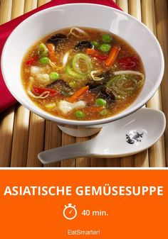 Asian vegetable soup – Recipes And Desserts Hamburger Meat Recipes, Sausage Recipes, Crockpot Recipes, Soup Recipes, Dinner Recipes, Asian Vegetables, Veggies, Healthy Eating Tips, Healthy Recipes