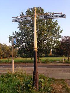Urban Wandering - old signpost, Putney Common, London SW15 #psychogeography