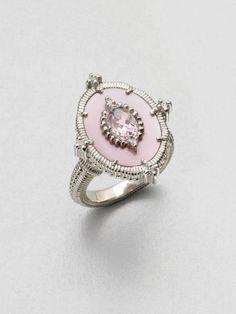Judith Ripka Silver Semiprecious Multistone Oasis Ring