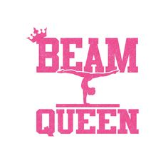 Beam Queen Iron On Decal by GirlsLoveGlitter on Etsy