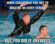 swim is SO hard that ur coach says STOP BREATHING. soo last time i checked swim … swim is SO hard that ur coach says STOP BREATHING. soo last time i checked swim is the hardest. Swimming Funny, Swimming Memes, I Love Swimming, Swimming Tips, Funny Swimming Quotes, Swimming Workouts, Swim Team Quotes, Swimmer Quotes, Competitive Swimming