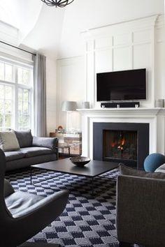 55 Incredible Farmhouse Living Room Sofa Design Ideas And Decor - Googodecor Home Fireplace, Living Room With Fireplace, Fireplace Surrounds, Fireplace Design, Simple Fireplace, Fireplace Ideas, Fireplace Molding, Stone Fireplaces, Black Fireplace Surround