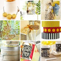 Pin to Win: Top 9 Pinterest Picks. I love everything Stampington and I especially love the colors and the designs in these pics.