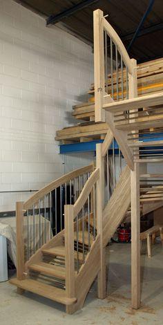 Oak Open riser Staircase american White Oak Euro Handrail Stair Banister, Banisters, Spiral Staircase, Staircase Manufacturers, Oak Stairs, White Oak, Open Plan, Euro, Layout
