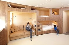 Hate the paneling! Not much space for growing kids. Hit The Sack With Style: Creative Bed Designs | Articles & Advice from Service Central