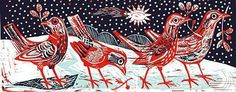 Mark Hearld ------- I love red anything, well almost Royal College Of Art, Linocut, Linocut Prints, College Art, Ks3 Art, Glasgow School Of Art, Art, Prints, Bird Art