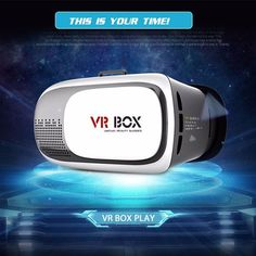 VR Box ii Movie Glasses Vrbox VR Headset Cardboard for iPhone/Samsung For Smart Phone Bluetooth Controller Virtual Reality Gear, Virtual Reality Glasses, Vr Helmet, Helmet Head, 3d Vr Box, Smartphone, 3d Video, Bluetooth Remote, Apps