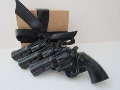 3 Gun Soap gift for him stocking stuffer for by BubbleCitySoap