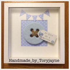 Personalised Large Button Frames For A Baby's Room