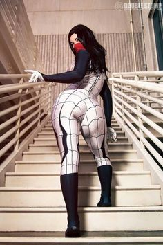 Beautiful Syn as Silk (Marvel Comics)
