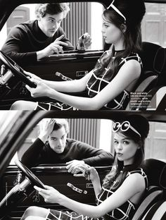 Estelle Yves and Harry Treadaway by Chris Craymer for UK Glamour, June 2013