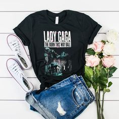 Lady gaga Born This Way 2013 Tour t shirt