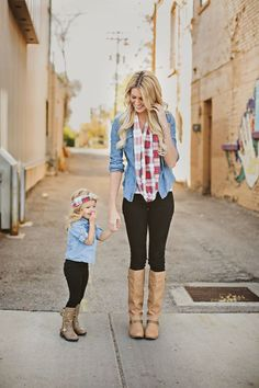 Mommy & me plaid mommy and me outfits, cute kids outfits, baby girl fall Stylish Mom Outfits, Mommy And Me Outfits, Plaid Outfits, Little Girl Outfits, Cute Outfits For Kids, Mother Daughter Photos, Mother Daughter Fashion, Mother Daughter Matching Outfits, Mom Daughter