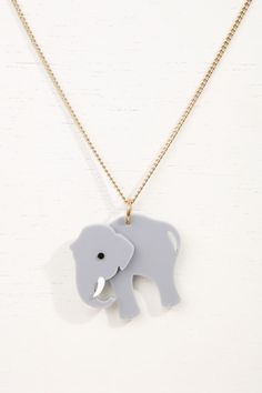Tatty Devine Elephant Necklace £25