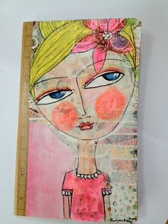 """I know a 'face' where the wild thyme blows, Where oxlips and the nodding violet grows, Quite over-canopied with luscious woodbine, With sweet musk-roses and with eglantine."" William Shakespeare, A Midsummer Night's Dream Mix Media, Mixed Media Art, Mixed Media Faces, Art Journal Pages, Art Journals, Wal Art, Rolf Armstrong, Mary Cassatt, Vintage Design"