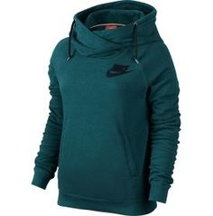 The Nike® Women's Rally Funnel Neck Hoodie will be your favorite defense against the elements. This pullover features a crossover hood and a warm, brushed interior for premium warmth and comfort. Its raglan sleeves give you plenty of space to move, while the rib cuffs and hem give this hoodie a durable feel. Embrace the chill with the Nike® Women's Rally Funnel Neck Hoodie.