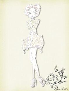 2009 - Desenvolvimento de Coleção - Coleção de Formatura - 'Encantado Olhar Imenso' - Croqui