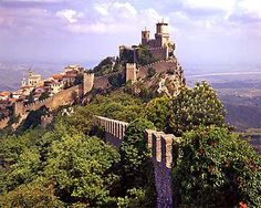 The tiny Republic of San Marino (just 24 sq mi) is situated on the Italian Peninsula on the NE side of the Apennine Mountains. San Marino is considered the oldest surviving sovereign state and constitutional republic in the world, as the continuation of the monastic community founded by the Dalmatian stonecutter Marinus on the top of Mount Titano on September 3th 301.