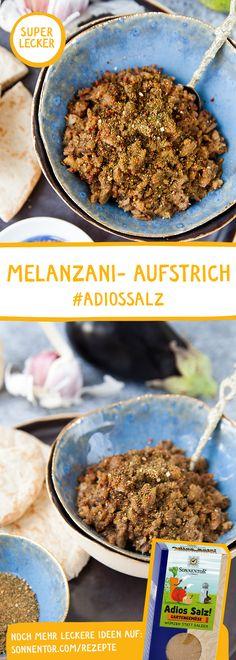 MELANZANI (Auberginen) AUFSTRICH mit ADIOS SALZ Würzmischung: Habt ihr schon einmal versucht, zu würzen anstatt zu salzen? Ihr werdet überrascht sein, wie lecker das ist! Mit unserer Adios Salz! Würzmischung habt ihr alles was ihr dazu benötigt. Dips, Spices And Herbs, Cereal, Anstatt, Meringue, Breakfast, Bbq, Eggplants, Marmalade