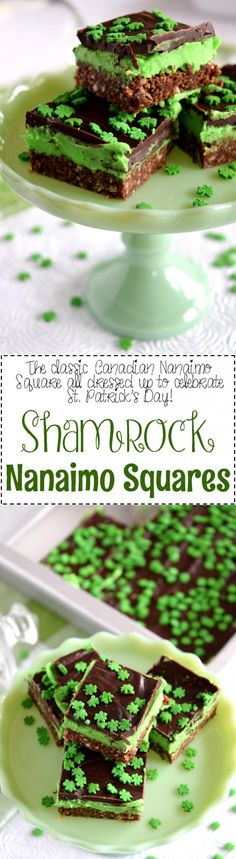 Shamrock Nanaimo Squares - Lord Byron's Kitchen