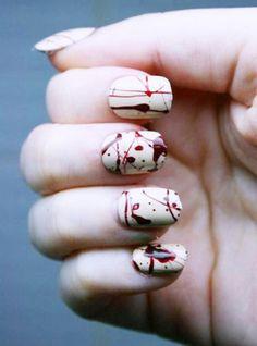Halloween nail art - 45 Cool Halloween Nail Art Ideas