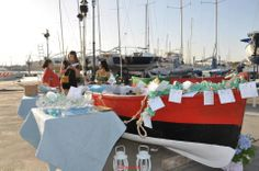 allestimento gozzo  presso molo S Eligio - Taranto