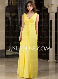 Bridesmaid Dresses - $119.99 - A-Line/Princess V-neck Floor-Length Chiffon Bridesmaid Dress With Ruffle (007027160) http://jjshouse.com/A-Line-Princess-V-Neck-Floor-Length-Chiffon-Bridesmaid-Dress-With-Ruffle-007027160-g27160