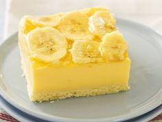 Geheime Rezepte: Vanillepuddingkuchen mit Banane