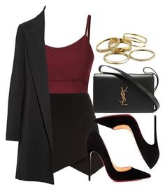 A fashion look from October 2016 featuring The Row blazers, Christian Louboutin pumps et Yves Saint Laurent shoulder bags. Browse and shop related looks. Teen Fashion Outfits, Cute Casual Outfits, Look Fashion, Stylish Outfits, Womens Fashion, Petite Fashion, 80s Fashion, Work Outfits, Elegantes Outfit