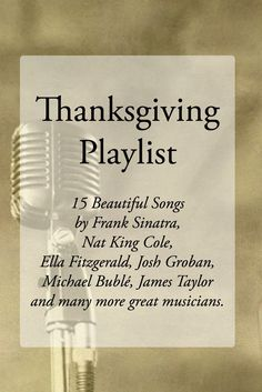 Thanksgiving Playlist