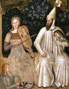 medieval:    FIRENZEWay of Salvation (detail),1365-68Fresco,Cappella Spagnuolo, Santa Maria Novella, Florence