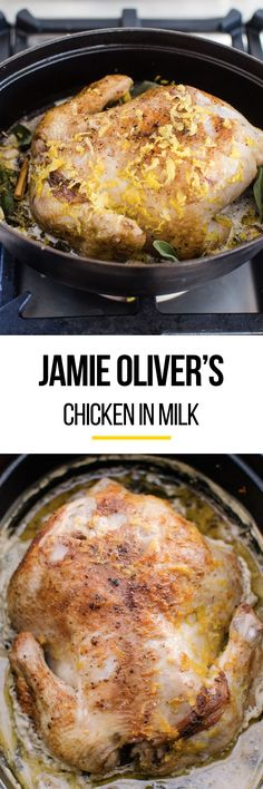 Jamie Oliver's Best Chicken Recipe of ALL TIME. This chicken recipe is SO simple to cook in your crockpot or slow cooker. Very unique too! If you haven't tried making chicken in milk for dinner yet, start with this meal.