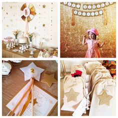 Gorgeous!! Gold + Glitter + Star themed birthday party via Kara's Party Ideas KarasPartyIdeas.com