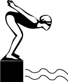 Competitive Swimming Clipart