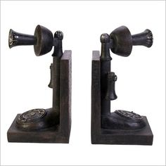 Casa Uno Old Phone Bookends