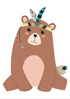 Items similar to Bear Printable Bear Nursery Art Bear Print Brown Bear Bear Art Baby Bear Cub Art Bear Illustration Tribal Nursery Print Tribal Print on Etsy party
