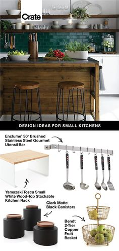 From weekday meal prep to family dinners, the kitchen is often the busiest room in your house. Our small kitchen ideas will help you get supreme functionality, regardless of square footage. Home Kitchens, Kitchen Remodel, Kitchen Design, Sweet Home, Kitchen Decor, Small Kitchen, Home Remodeling, Home Decor, Kitchen Style