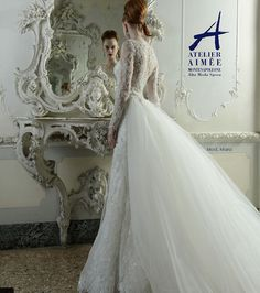 Daring Yet Timeless Atelier Aimee Wedding Dresses 2015: http://www.modwedding.com/2014/10/13/daring-yet-timeless-atelier-aimee-wedding-dresses-2015/ #wedding #weddings #wedding_dress