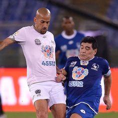 Diego Maradona and Juan Sebastian Veron clash at Match of Peace