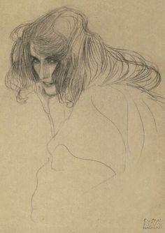 Gustav Klimt - Nachlass pencil drawing