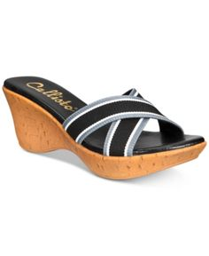 a40c662d9c16 Callisto Segway Slide Platform Wedge Sandals Women Shoes