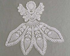 PA363 Excelsis Angel Doily Crochet Pattern. Bring out this little treasure for Christmas, or enjoy her all year round! This intricate design is made with size 10 crochet cotton thread and would make a perfect gift!