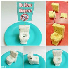 Easy Potty Rice Krispies Treat to celebrate Potty Training! Rice Krispie Treats, Rice Krispies, Potty Training Humor, Sticker Chart, Sweets Cake, Cute Food, Party Cakes, Toddler Activities, Cake Decorating