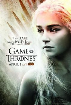 Game of Thrones season 2 starts tomorrow!  A super interesting TV show.