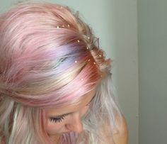 How To Give Yourself Magical Multicolored Pastel Hair / DIY Unicorn Hair #tutorial