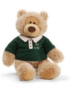 FOR DIAPER CAKE? - Gund Kiefer 1-Dad Bear - 320547 - Toys - by Gund - Gund Kiefer Bear is Super