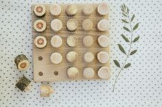 Waldorf Peg Board Toy - Wooden Waldorf toys - Waldorf  baby - Montessori Toy - Pegs and Board
