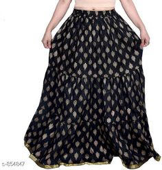 Ethnic Bottomwear - Skirts Stylish Cotton Women's Long Skirt Fabric: Cotton Waist Size: Up To 26 in To 40 in ( Free Size) Length: Up To 39 To 40 in Type: Stitched Description: It Has 1 Piece Of Women's Long Skirt Work: Printed  Country of Origin: India Sizes Available: Free Size, 26, 28, 30, 32, 34, 36, 38, 40   Catalog Rating: ★4 (1814)  Catalog Name: Ladies Cotton Printed Long Skirts Vol 15 CatalogID_99049 C74-SC1013 Code: 913-854847-657