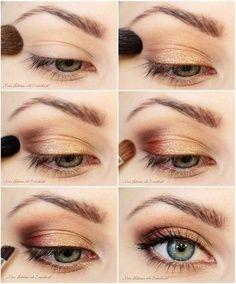 step by step eye makeup, eyeshadow