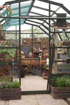 Greenhouse from RHS Chelsea from Country Homes and Interiors Magazine styled by Lucyina Moodie.